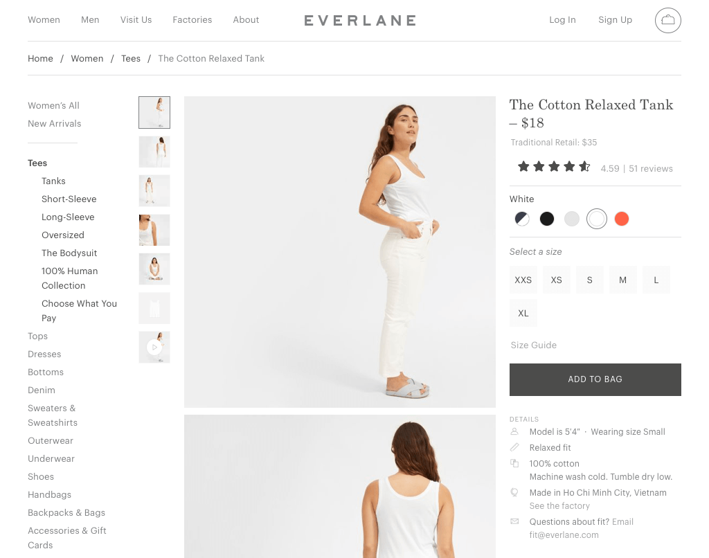 Everlane - The Cotton Relaxed Tank