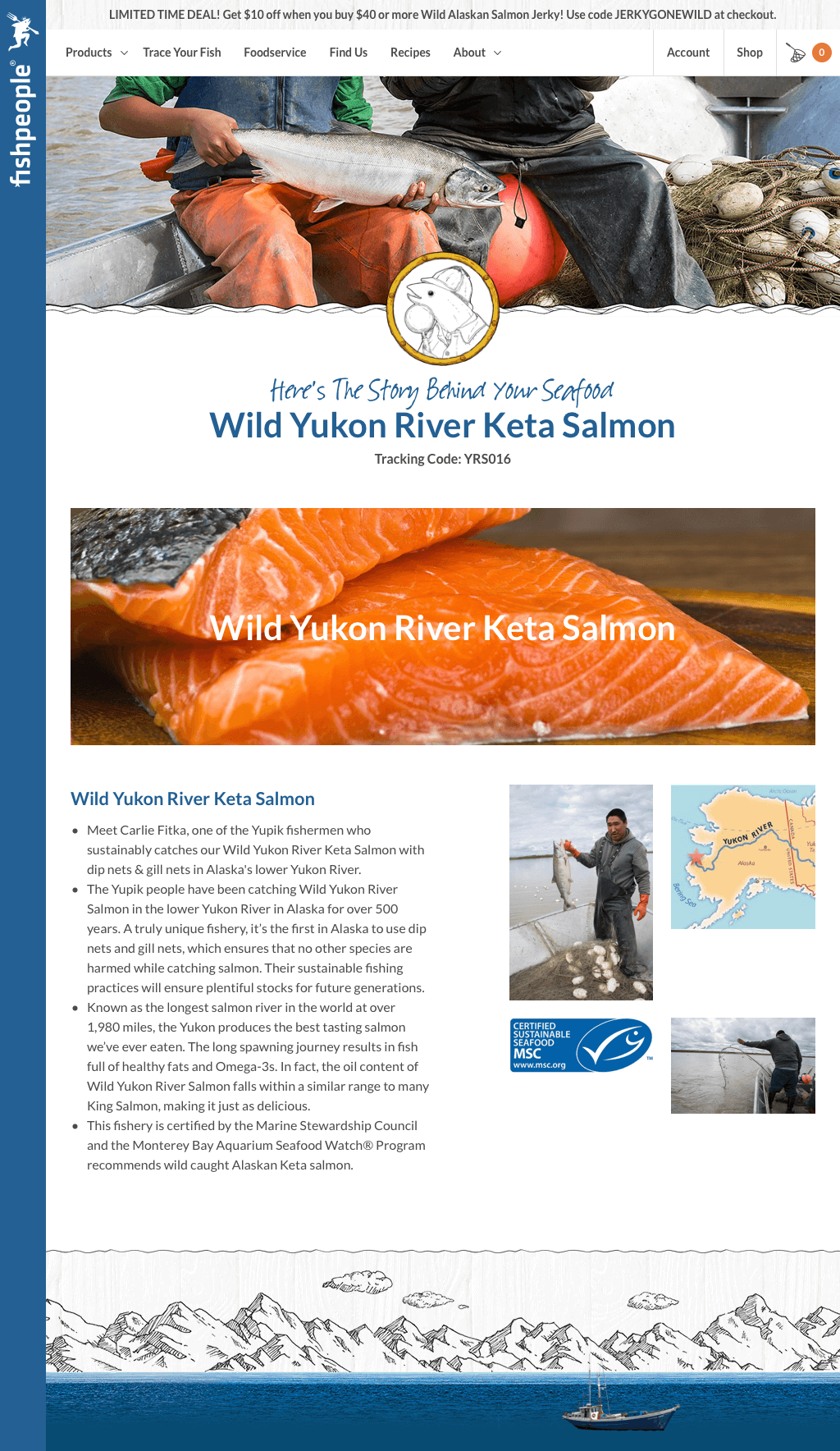 Fishpeople - The Story Behind Your Seafood: Wild Yukon River Keta Salmon